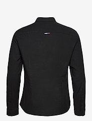 Tommy Jeans - TJM SLIM STRETCH OXF - rutiga skjortor - black - 1