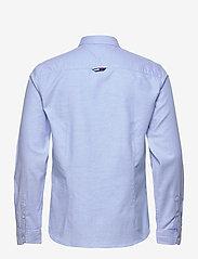 Tommy Jeans - TJM SLIM STRETCH OXF - rutiga skjortor - perfume blue - 1