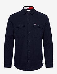 Tommy Jeans - TJM SOFT OVERSHIRT - kläder - twilight navy - 0