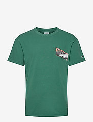 Tommy Jeans - TJM BACK GRAPHIC TEE C - basic t-shirts - rural green - 0