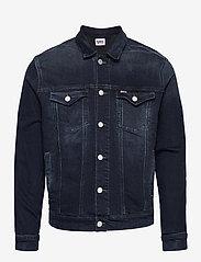 Tommy Jeans - REGULAR TRUCKER JACKET COBBS - jeansjackor - cornell bl bk str - 0
