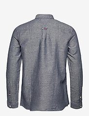 Tommy Jeans - TJM LINEN BLEND SHIRT - rutiga skjortor - twilight navy - 1