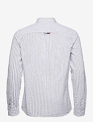 Tommy Jeans - TJM SEERSUCKER STRIPED SHIRT - linneskjortor - twilight navy / white - 1