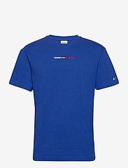 Tommy Jeans - TJM LINEAR LOGO TEE - basic t-shirts - cobalt - 0