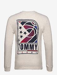 Tommy Jeans - TJM TOMMY BASKETBALL LONGSLEEVE - basic t-shirts - white - 1