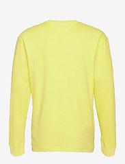 Tommy Jeans - TJM SMALL FLAG BOX LOGO TEE - långärmade t-shirts - faded lime - 1