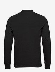 Tommy Jeans - TJM BADGE MOCK NECK LONGSLEEVE - basic t-shirts - black - 1