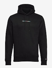 Tommy Jeans - TJM SHINE STRAIGHT LOGO HOODIE C - hoodies - black - 0