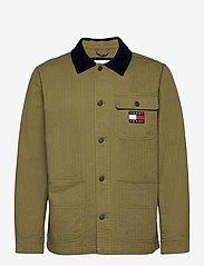 Tommy Jeans - TJM BADGE WORKER JACKET - tunna jackor - uniform olive - 0