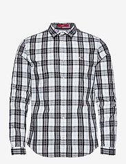 Tommy Jeans - TJM SEASONAL CHECK SHIRT - jeansskjortor - white / multi - 0