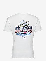 Tommy Jeans - TJM DIAMOND BACK LOGO TEE - basic t-shirts - white - 1