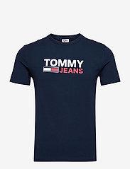 Tommy Jeans - TJM SKINNY CORP TEE - korte mouwen - twilight navy - 0