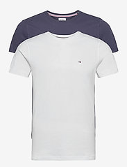 Tommy Jeans - TJM 2PACK CNECK TEES - basic t-shirts - white / navy - 0