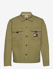 Tommy Jeans - TJ US BACK GRAPHIC OVERSHIRT - kläder - uniform olive - 0