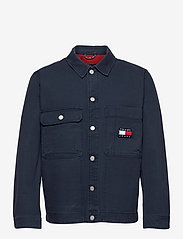 Tommy Jeans - TJM BOXY TRUCKER JACKET - denim jackets - twilight navy - 0