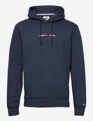 Tommy Jeans - TJM STRAIGHT LOGO HOODIE - hoodies - twilight navy - 0