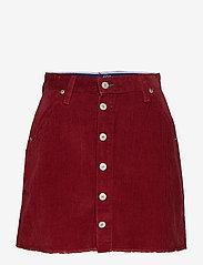 Tommy Jeans - TJW CREST SKIRT W17, - korta kjolar - cabernet - 0