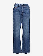 Tommy Jeans - TJW MOM JEANS W16 B, - mammajeans - dark blue denim - 0