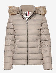 Tommy Jeans - TJW ESSENTIAL HOODED - padded jackets - mourning dove - 0