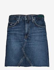 Tommy Jeans - TJ SHORT DENIM SKIRT - jupes courtes - tj save mid bl rig - 0