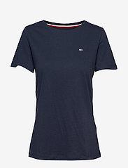 Tommy Jeans - TJW SOFT JERSEY TEE - basic t-shirts - black iris - 0