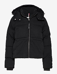 Tommy Jeans - TJW TOMMY DETAIL PUFFA JACKET - padded jackets - tommy black - 0