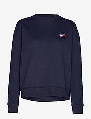 Tommy Jeans - TJW TOMMY BADGE CREW - sweatshirts - black iris - 0