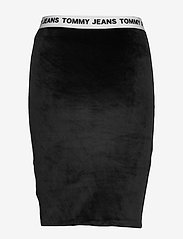 Tommy Jeans - TJW VELVET BODYCON SKIRT - midi skirts - tommy black - 1