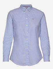 Tommy Jeans - TJW SLIM FIT OXFORD SHIRT - langærmede skjorter - serenity - 0