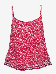 Tommy Jeans - TJW EMBROIDERY STRAP - tops zonder mouwen - floral print / deep crimson - 1