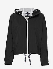 Tommy Jeans - TJW BRANDED SLEEVES WINDBREAKER - vestes legères - black - 0