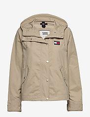 Tommy Jeans - TJW LOGO HOOD JACKET - vestes legères - silt - 0