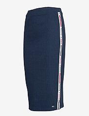 Tommy Jeans - TJW TAPE DETAIL RIB - midi skirts - twilight navy - 2