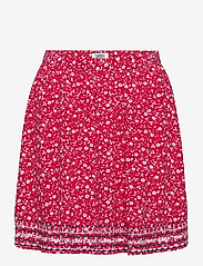 Tommy Jeans - TJW EMBROIDERY DETAI - jupes courtes - floral print / deep crimson - 0