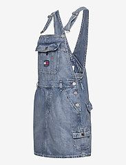 Tommy Jeans - DUNGAREE DRESS CRLT - denim dresses - carol lt bl rig - 2