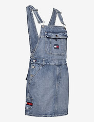 Tommy Jeans - DUNGAREE DRESS CRLT - denim dresses - carol lt bl rig - 3