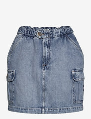 Tommy Jeans - SHORT CARGO SKIRT CR - jeanskjolar - carol lt bl rig - 0