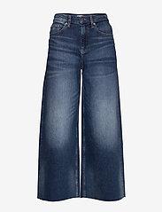 Tommy Jeans - MEG MR WIDE LEG ANKLE CNDBCF - szerokie dżinsy - cony dark blue comfort - 0