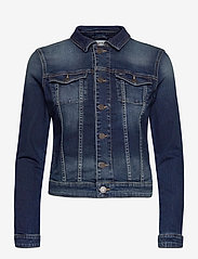 Tommy Jeans - VIVIANNE SLIM DENM TRUCKER BXDBS - denim jackets - box dark blue stretch - 0