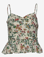 Tommy Jeans - TJW SUMMER PRINTED STRAP TOP - tops zonder mouwen - hawaii print - 0