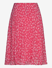 Tommy Jeans - TJW PLEATED BUTTON THRU SKIRT - midi skirts - floral print / glamour pink - 1