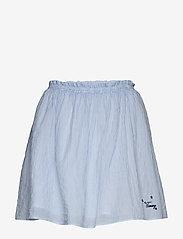 Tommy Jeans - TJW SUMMER SEERSUCKER SKIRT - jupes courtes - white / moderate blue - 0