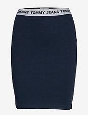 Tommy Jeans - TJW BODYCON SKIRT - midi skirts - twilight navy - 0