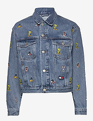 Tommy Jeans - TJW LOONEY TUNES DEN - denim jackets - light blue wash - 0