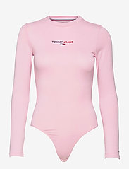 Tommy Jeans - TJW LINEAR LOGO BODY - bodies - romantic pink - 0