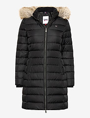 Tommy Jeans - TJW ESSENTIAL HOODED DOWN COAT - padded coats - black - 0