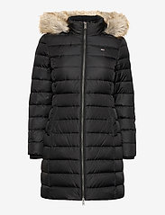 Tommy Jeans - TJW ESSENTIAL HOODED DOWN COAT - padded coats - black - 1