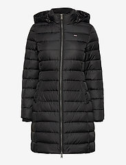 Tommy Jeans - TJW ESSENTIAL HOODED DOWN COAT - padded coats - black - 2