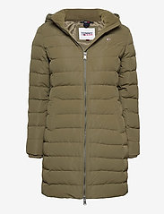 Tommy Jeans - TJW QUILTED DOWN COAT - quilted jackets - olive tree - 0