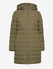Tommy Jeans - TJW QUILTED DOWN COAT - quilted jackets - olive tree - 2